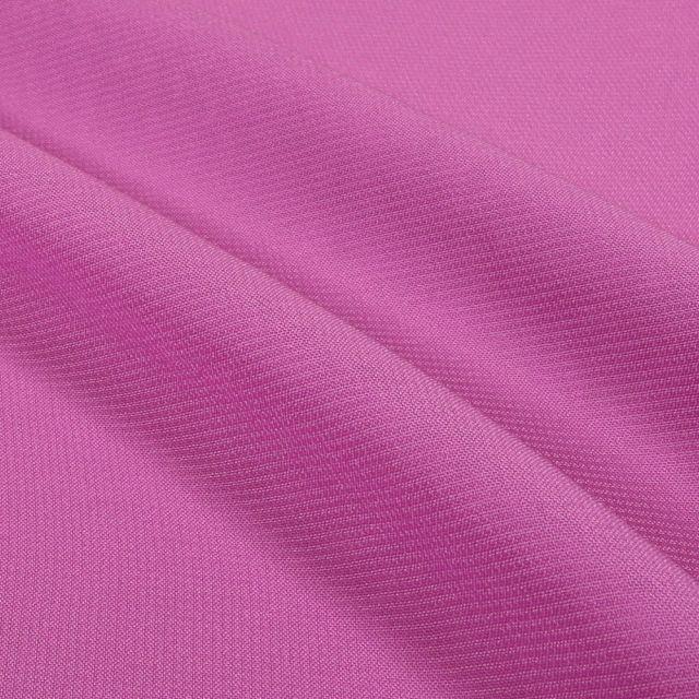Tissu Mousseline uni Mauve - Par 10 cm