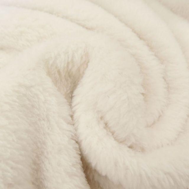 Tissu Doudou uni Ecru x10cm