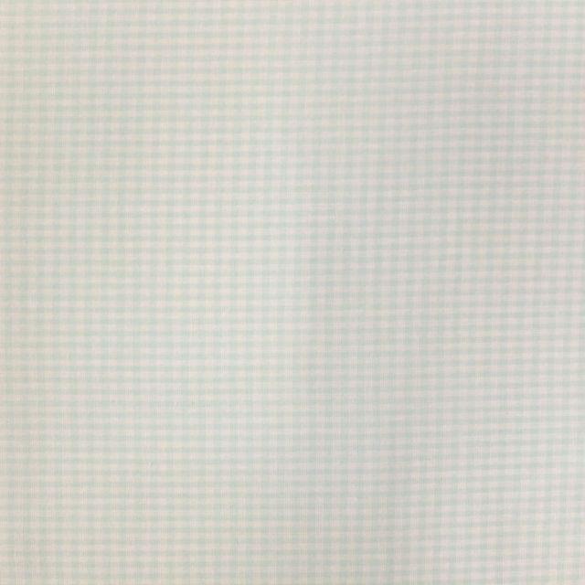 Tissu Vichy Mini carreaux 3 mm Vert menthe - Par 10 cm