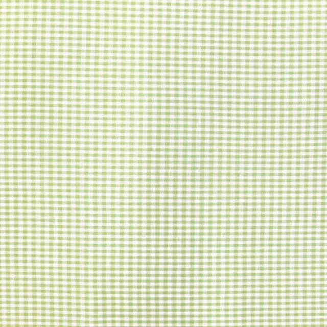 Tissu Vichy Mini carreaux 3 mm Vert pomme - Par 10 cm