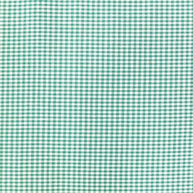 Tissu Vichy Mini carreaux 3 mm Vert - Par 10 cm