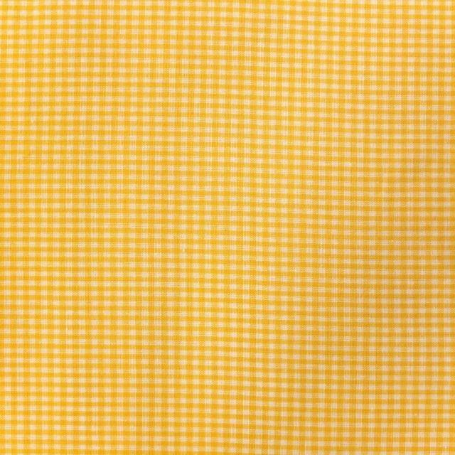Tissu Vichy Mini carreaux 3 mm Jaune - Par 10 cm