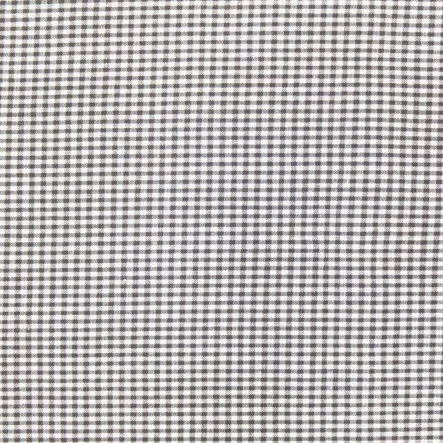 Tissu Vichy Mini carreaux 3 mm Taupe - Par 10 cm