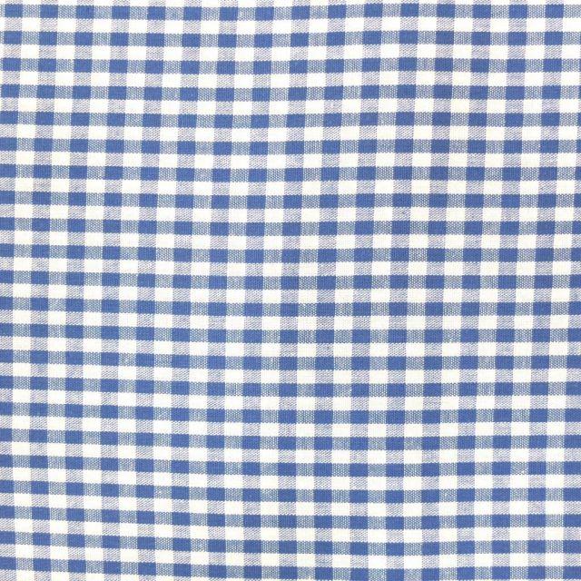 Tissu Vichy Petits carreaux 5 mm Bleu roi - Par 10 cm