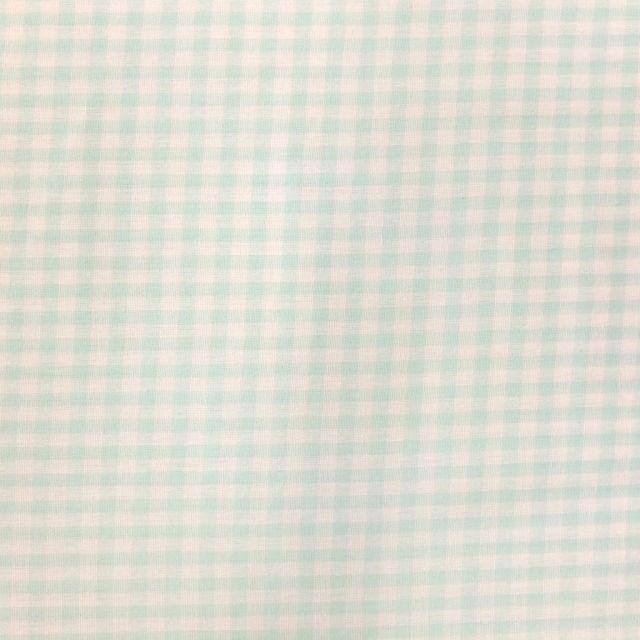 Tissu Vichy Petits carreaux 5 mm Vert menthe - Par 10 cm