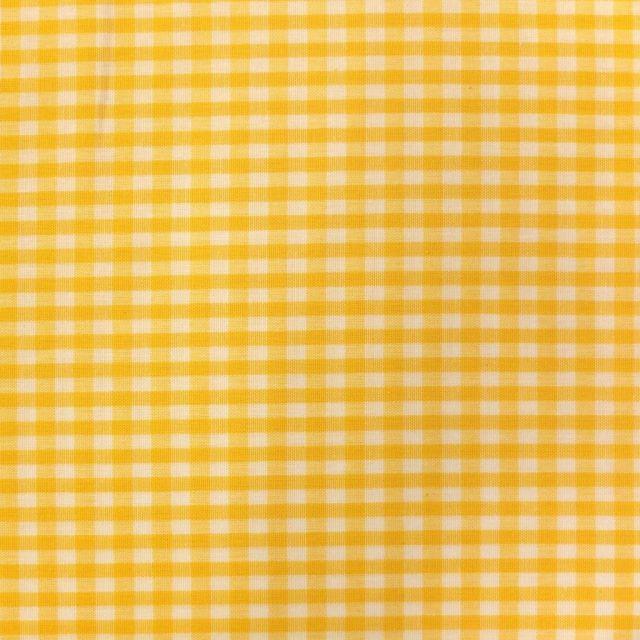Tissu Vichy Petits carreaux 5 mm Jaune - Par 10 cm