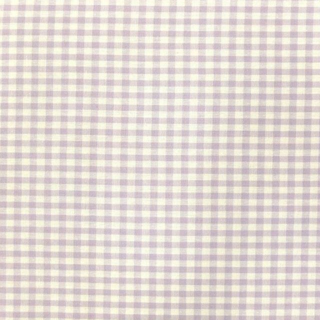 Tissu Vichy Petits carreaux 5 mm Lavande - Par 10 cm