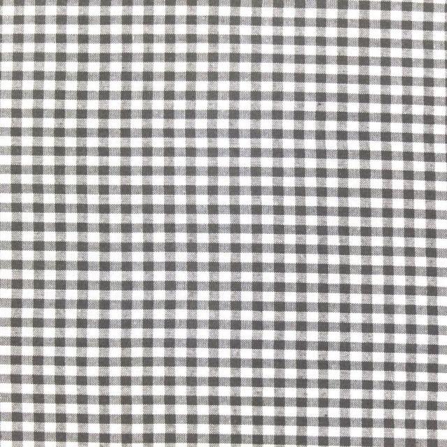 Tissu Vichy Petits carreaux 5 mm Taupe - Par 10 cm