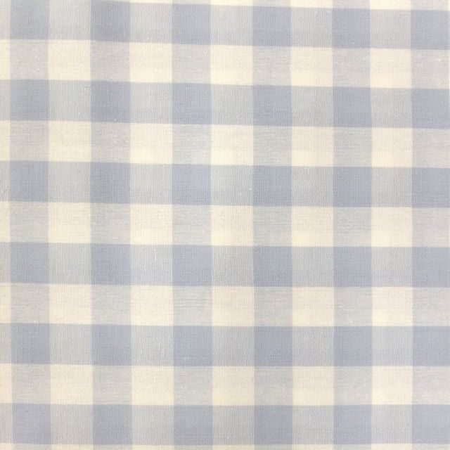 Tissu Vichy Très grands carreaux 17 mm Bleu ciel - Par 10 cm