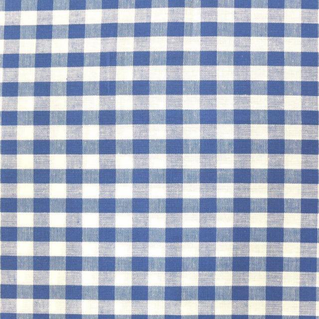 Tissu Vichy Grands carreaux 10 mm Bleu roi - Par 10 cm