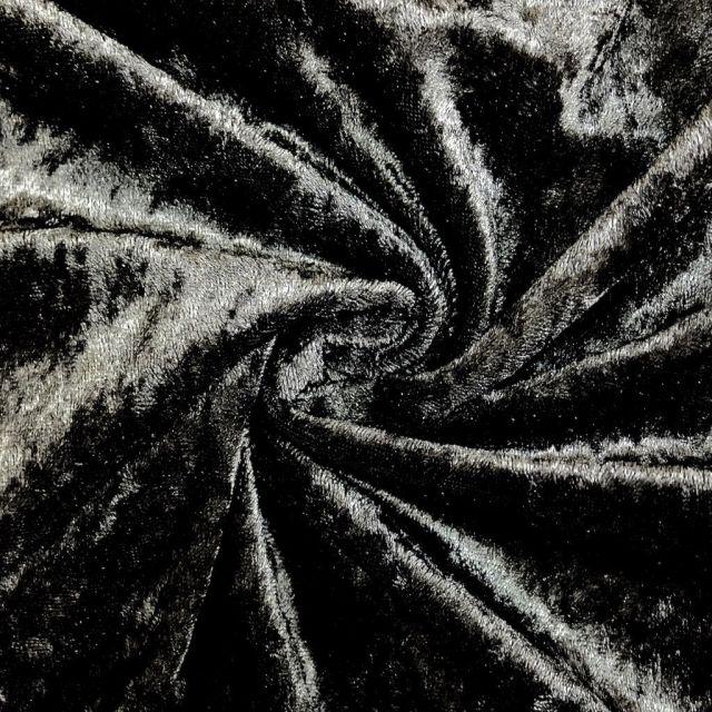 Panne de velours Noir x10cm