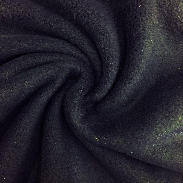 Tissu Polaire uni Bleu marine - Par 10 cm