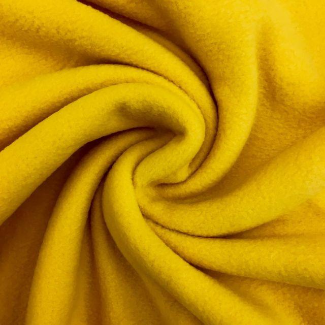 Tissu Polaire uni Jaune - Par 10 cm