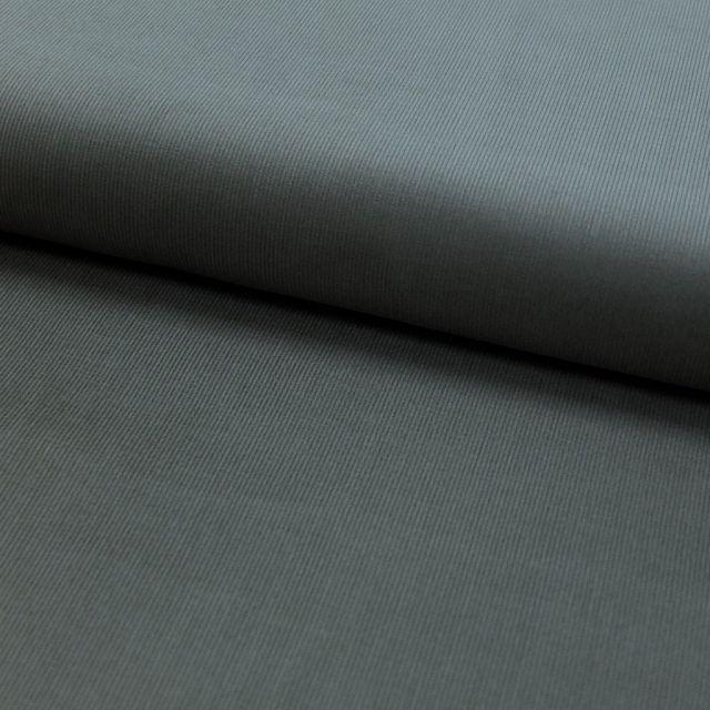 Tissu Velours milleraies Gris anthracite - Par 10 cm