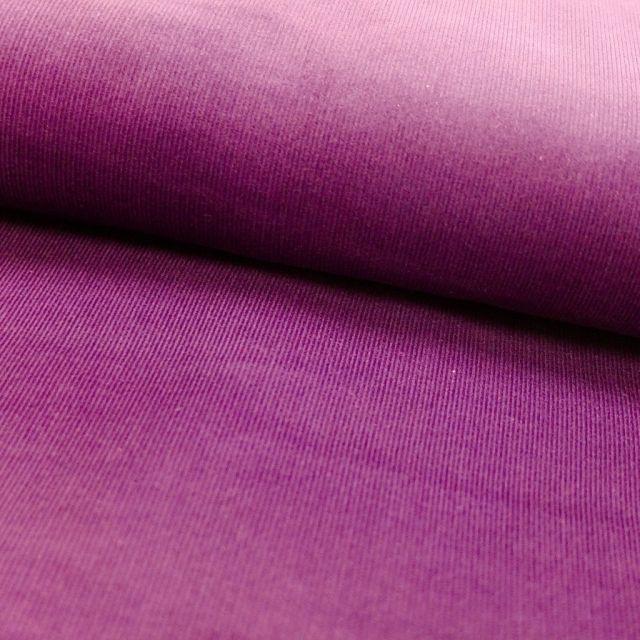 Tissu Velours milleraies Parme - Par 10 cm