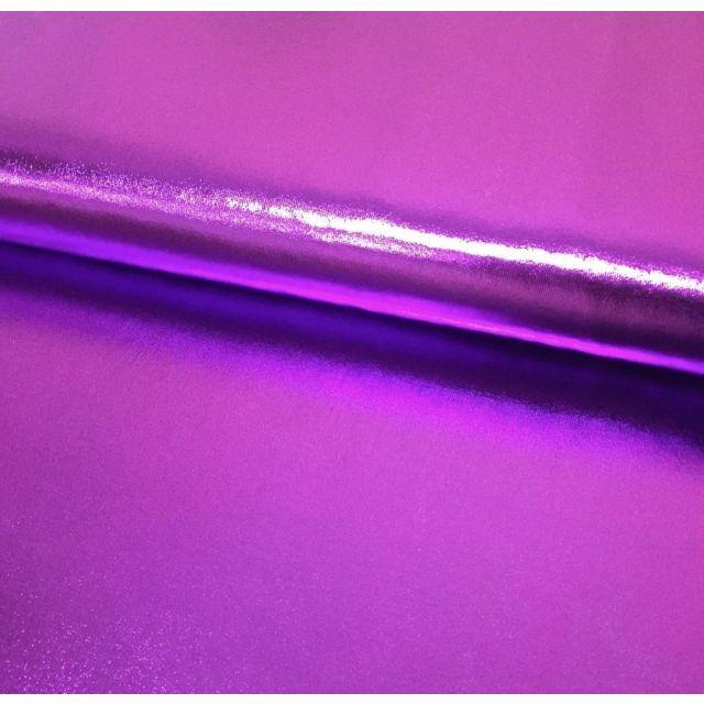 Tissu Lamé brillant Violet - Par 10 cm