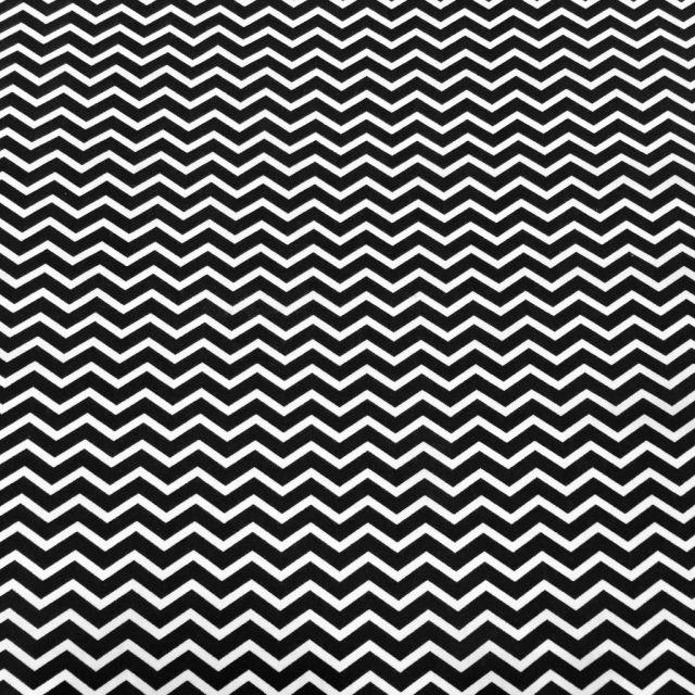 Tissu Coton Imprimé Arty Chevrons Noir - Par 10 cm