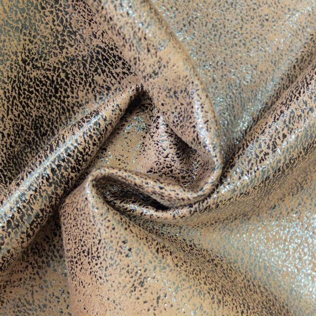 Simili cuir Safari Beige - Par 50 cm