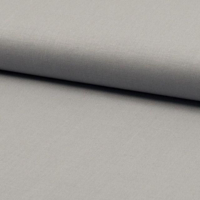 Tissu Coton uni Gris - Par 10 cm
