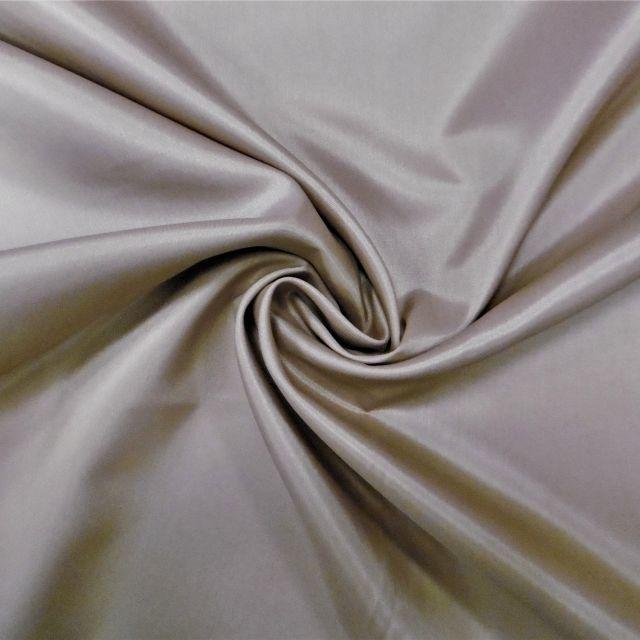 Tissu Doublure Pongé Crème - Par 10 cm