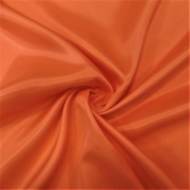 Tissu Doublure Pongé Orange - Par 10 cm