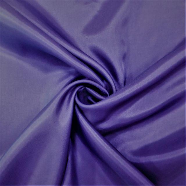 Tissu Doublure Pongé Violet - Par 10 cm