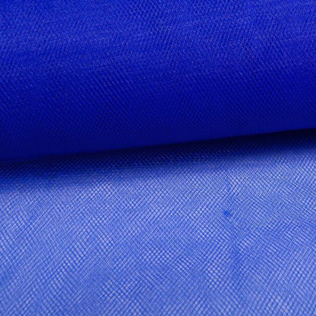Tissu Tulle Souple Grande Largeur Bleu - Au mètre
