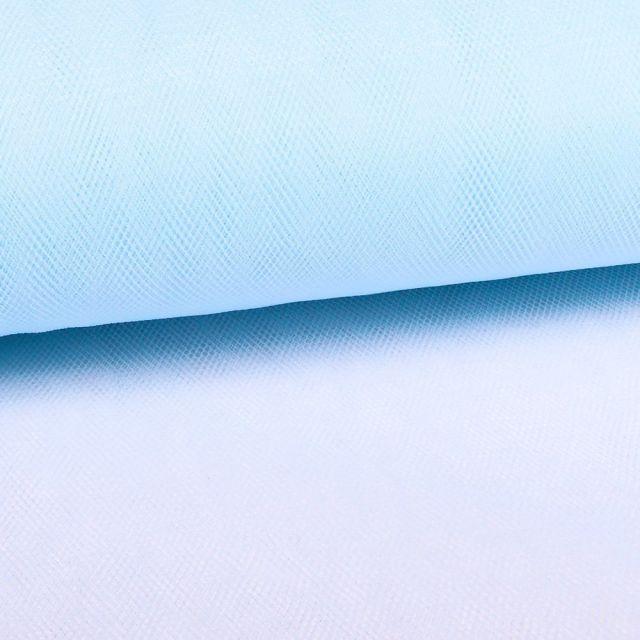 Tissu Tulle Souple Grande Largeur Bleu ciel - Au mètre
