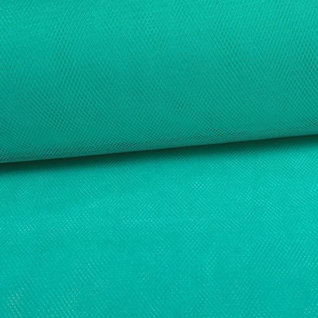 Tissu Tulle Souple Grande Largeur Bleu Tiffany - Au mètre