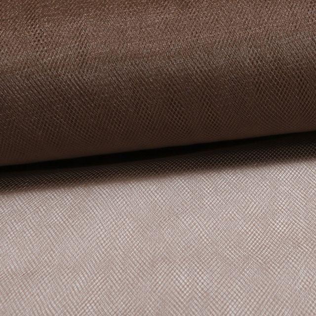 Tissu Tulle Souple Grande Largeur Chatain - Au mètre