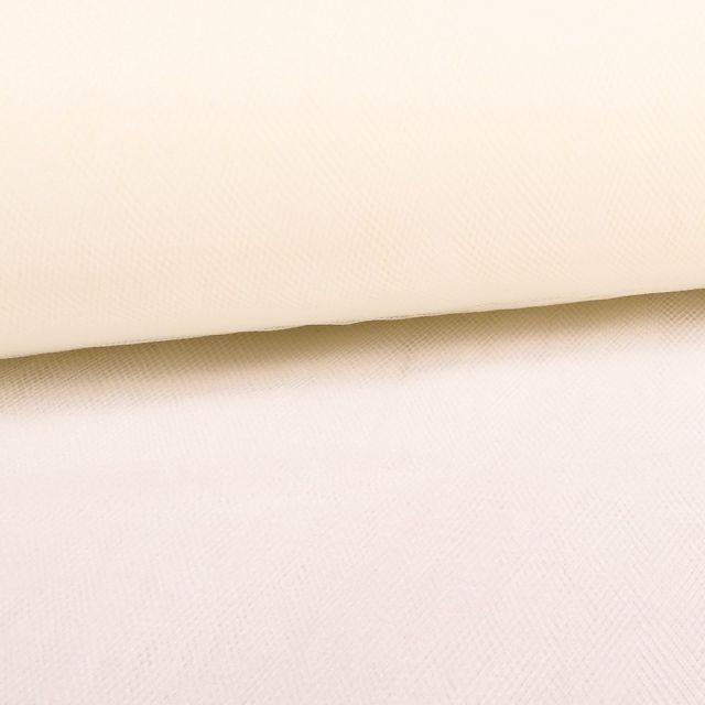 Tissu Tulle Souple Grande Largeur Ecru - Au mètre