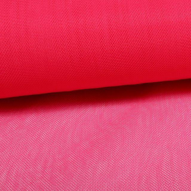 Tissu Tulle Souple Grande Largeur Fuchsia - Au mètre