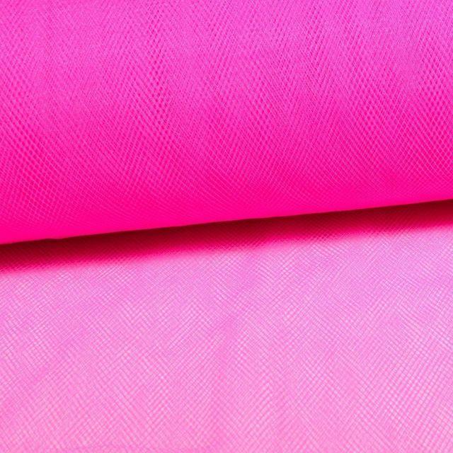 Tissu Tulle Souple Grande Largeur Fuschia Fluo - Au mètre