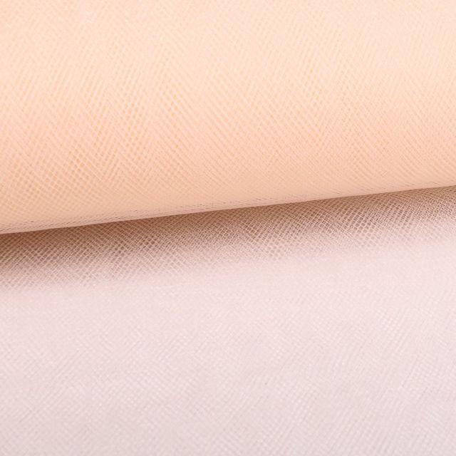 Tissu Tulle Souple Grande Largeur Ivoire - Au mètre