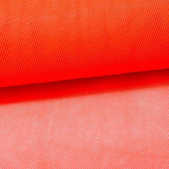 Tissu Tulle Souple Grande Largeur Orange - Au mètre