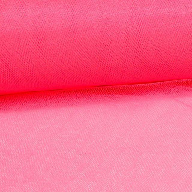 Tissu Tulle Souple Grande Largeur Pastèque Fluo - Au mètre