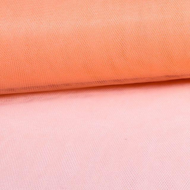 Tissu Tulle Souple Grande Largeur Saumon - Au mètre
