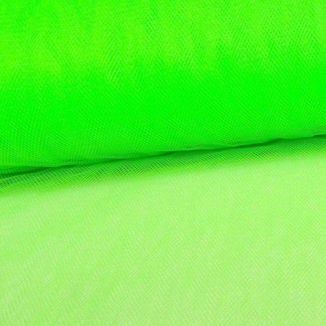 Tissu Tulle Souple Grande Largeur Vert Fluo - Au mètre