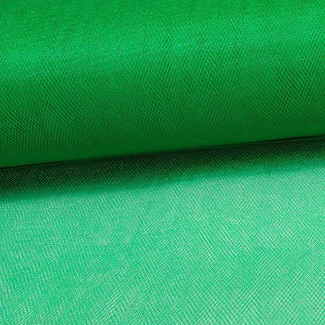 Tissu Tulle Souple Grande Largeur Vert Gazon - Au mètre