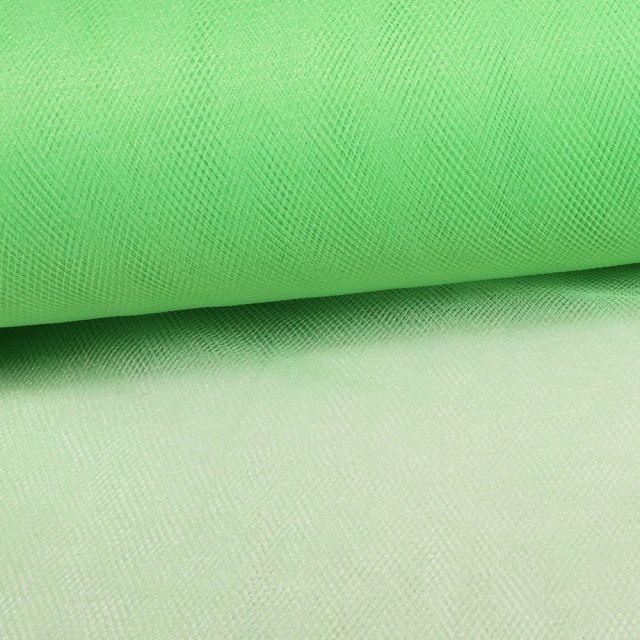 Tissu Tulle Souple Grande Largeur Vert Jade - Au mètre