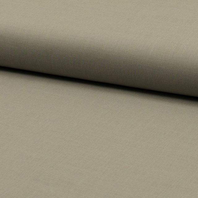 Tissu Voile de coton uni Beige - Par 10 cm