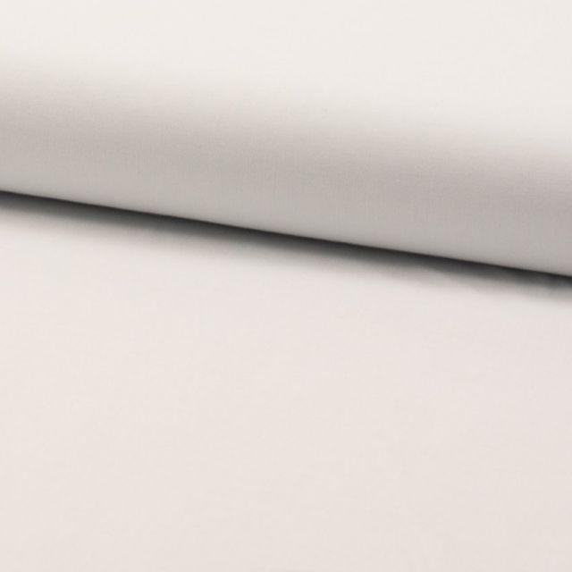 Tissu Voile de coton uni Blanc - Par 10 cm