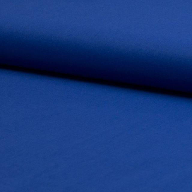 Tissu Voile de coton uni Bleu roi - Par 10 cm