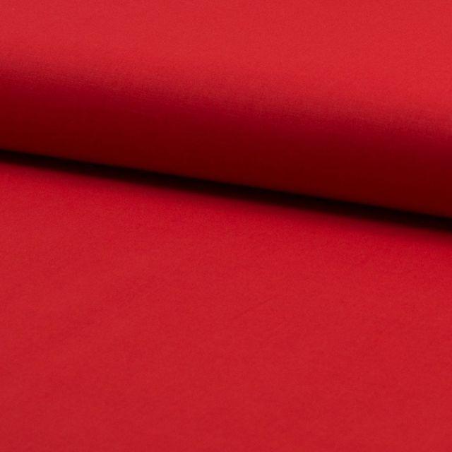 Tissu Voile de coton uni Rouge - Par 10 cm