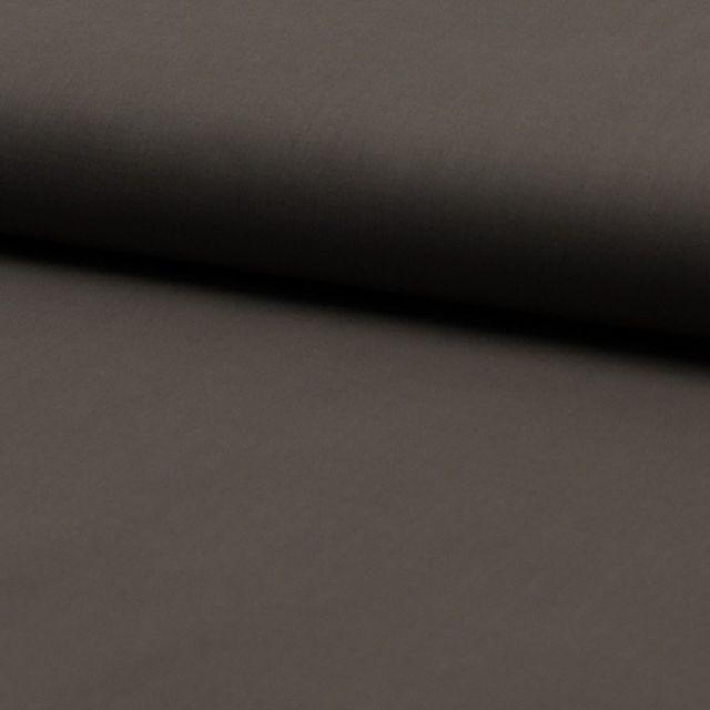 Tissu Voile de coton uni Taupe - Par 10 cm