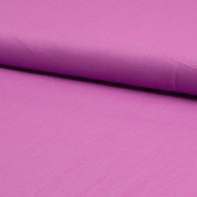 Tissu Voile de coton uni Violet - Par 10 cm