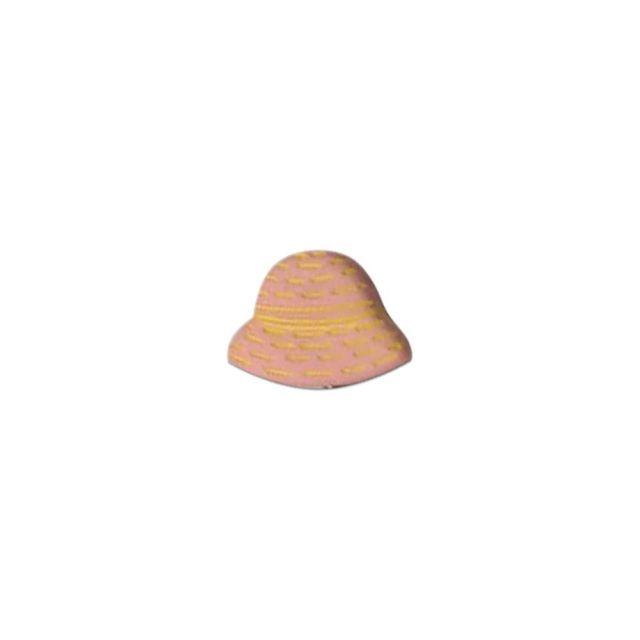 Bouton Chapeau Rose