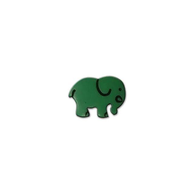 Bouton Eléphant Vert
