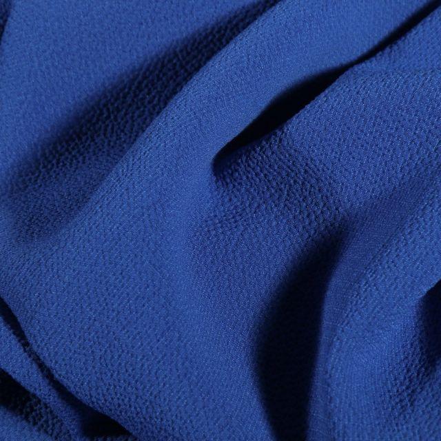 Tissu Crêpe stretch Bleu roi - Par 10 cm