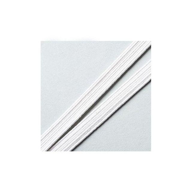 Elastique Plat Indémaillable 8 mm Blanc x1m